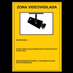 Placa Zona Videovigilada...